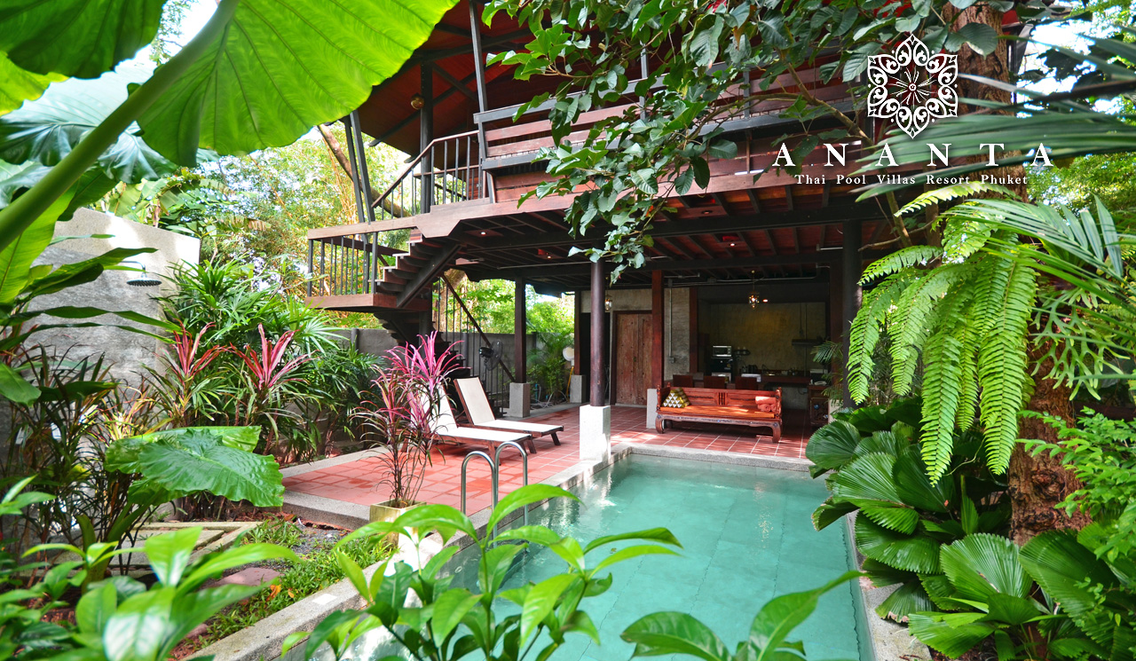 Two bedroom pool villa is a two level house in Thai Style, providing a large area for your family. Upstairs are the bedrooms with garden view balcony, incorporating Thai northern wooden furniture, and super king size beds for both bedrooms. The upstairs of the house also has a terrace for relaxation. Downstairs is an open area with kitchen, dining area, daybed and swimming pool with garden view. The two bedroom villas are named Sritrang (ศรีตรัง) and Samor (สมอ) for the significant tree in their grounds.